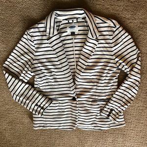 Old Navy Cotton Cream and Navy Stripe Blazer